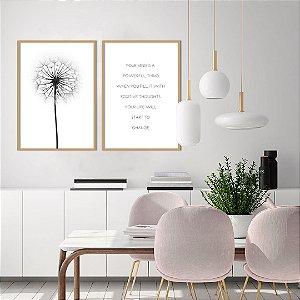Conjunto com 02 quadros decorativos Energia