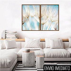 Conjunto com 02 quadros decorativos Sonho 50x70cm (LxA) Moldura Preta