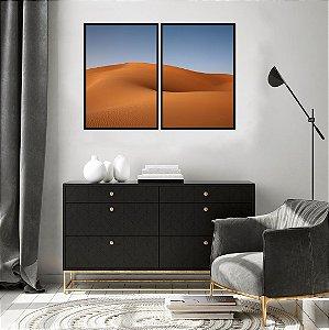 Conjunto com 02 quadros decorativos Deserto