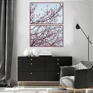 Conjunto com 02 quadros decorativos Primavera