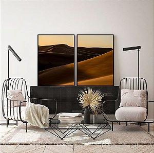 Conjunto com 02 quadros decorativos Desert
