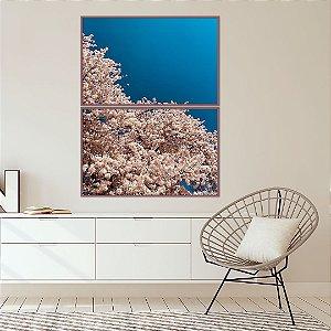 Conjunto com 02 quadros decorativos Florescer