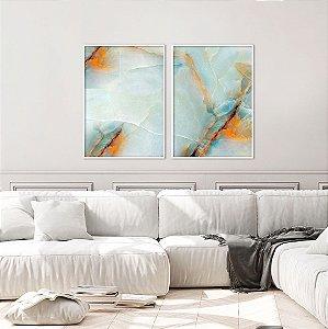 Conjunto com 02 quadros decorativos Pedra Preciosa