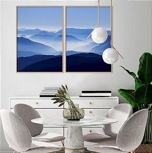 Conjunto com 02 quadros decorativos Horizonte