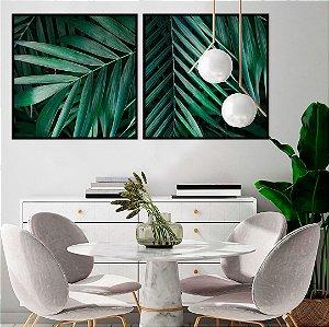 Conjunto com 02 quadros decorativos Palm