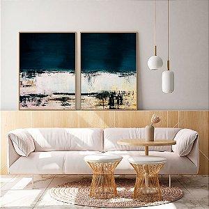Conjunto com 02 quadros decorativos Cores