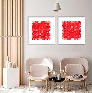 Conjunto com 02 quadros decorativos Geométricos