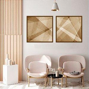 Conjunto com 02 quadros decorativos Geometric Design