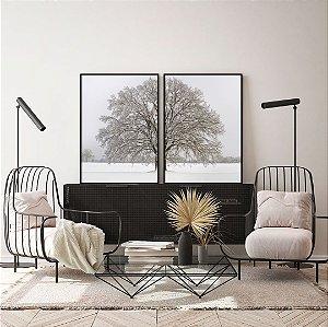 Conjunto com 02 quadros decorativos Neve
