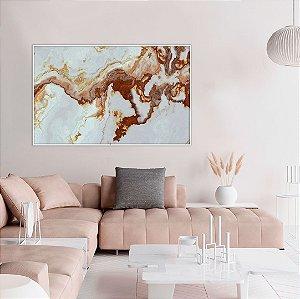 Quadro decorativo Abstrato Marmorizado Cobre
