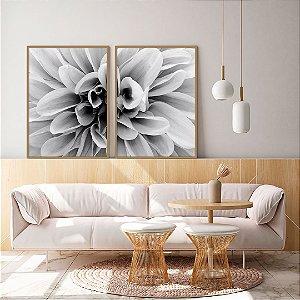 Conjunto com 02 quadros decorativos Flor