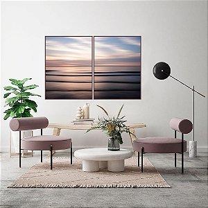 Conjunto com 02 quadros decorativos Mar Rose