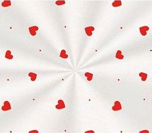 Saco Decorado Love Vermelho - 15x29cm - 100 unidades - Cromus - Rizzo