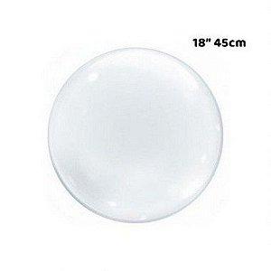 """Balão Bubble Transparente - 18"""" 45cm - 01 Unidade - Bobo Balloon - Rizzo"""