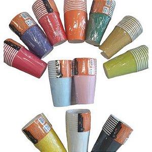 Copo Papel Liso Biodegradável - 10 un - 270 ml - Silver Festas