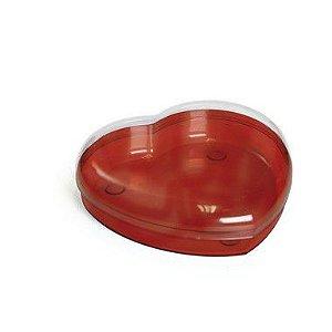Caixa Acrílica Coração Vermelha16,8 x 15 x 4,5cm - Cromus - Rizzo