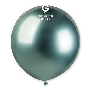 """Balão Látex 19"""" 48cm - Shine Verde - 01 Unidade - Gemar - Rizzo"""