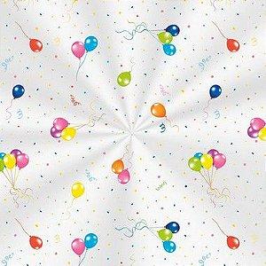 Saco Decorado Festa dos Balões - 11x19,5cm - 100 unidades - Cromus - Rizzo