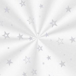 Saco Decorado Estrela Prata - 15x29cm - 100 unidades - Cromus - Rizzo