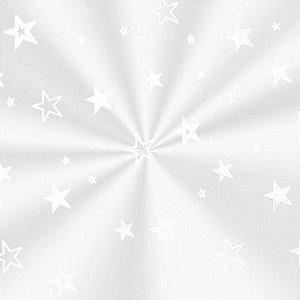 Saco Decorado Estrela Branca - 15x29cm - 100 unidades - Cromus - Rizzo