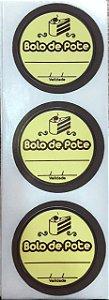 Etiqueta Adesiva Bolo de Pote Amarela com 60 un. Rizzo