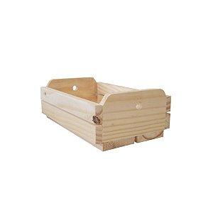 Caixote de Madeira Crú 29x21x16cm - 01 Unidade - Rizzo