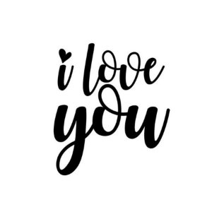 Transfer Para Balão Lettering -  I Love You Coração - 01 Unidade - Rizzo