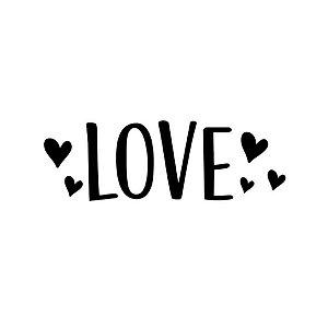 Transfer Para Balão Lettering - Love Coração - 01 Unidade - Rizzo