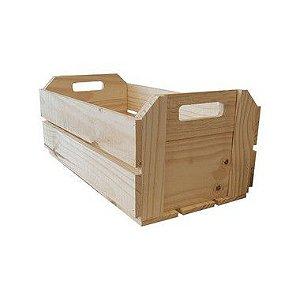 Caixote de Madeira Crú 35x16,5x20,5cm - 01 Unidade - Rizzo
