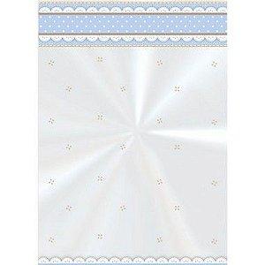 Saco Decorado Cute Azul - 11cm x 19,5cm - 50 unidades - Cromus - Rizzo