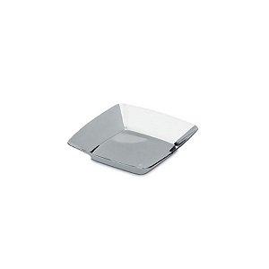 Mini Prato Boleado Prata - 12 un  - 6 cm - Silver Festas