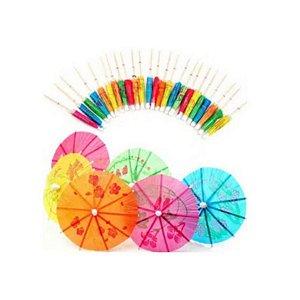Palito para decoração Guarda Chuva Colorido - 12 un - 10 cm -  Silver Festas
