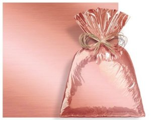 Saco Presente Metalizado Rose Gold 50x70cm - 25 unidades - Cromus - Rizzo