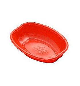 Cumbuca Oval Descartável 10cm Vermelho 10 unidades Trik Trik