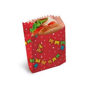 Saquinho para Lanches Vermelho 10x8cm Festa Junina - 50 unidades - Cromus - Rizzo