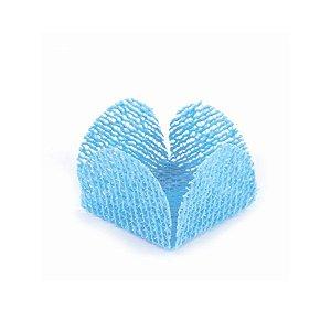Forminha para Doces Finos - Caixeta Tela Azul Claro - 50 unidades - MaxiFormas