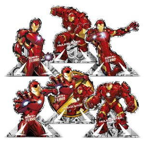 Decoração de Mesa Festa Homem de Ferro - 06 unidades - Regina - Rizzo