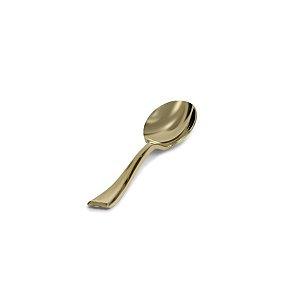 Mini Colher Premium Dourada - 20 un  - Silver Festas