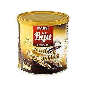Canudo Biju Recheado Sabor Chocolate 250g - Marvi - Rizzo Confeitaria
