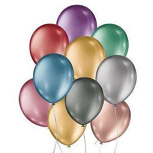 Balão Metalico - Sortido - 25 Unidades - São Roque - Rizzo