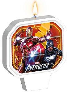 Vela Plana Adesivada Festa Avengers Game Verse - 01 unidade - Regina - Rizzo