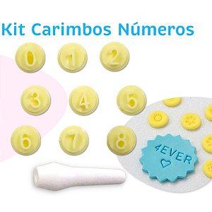 Kit Carimbos Números - Blue Star - Rizzo Confeitaria