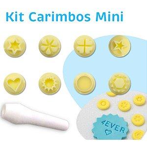 Kit Carimbos Mini - Blue Star - Rizzo Confeitaria