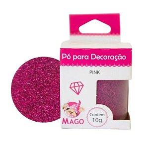 Pó para decoração - Pink - 10g - Mago