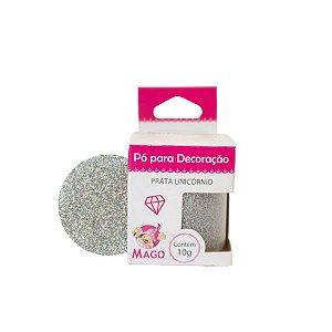 Pó para decoração - Prata Unicórnio - 10g - Mago