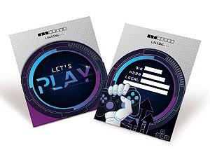 Convite de Aniversário Festa Gamer Level Up - 08 unidades - Cromus - Rizzo