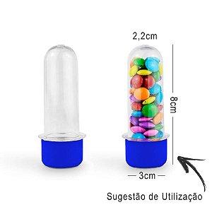 Mini Tubete Lembrancinha 8cm 10 unidades - Azul Escuro - Rizzo
