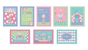 Cartaz Decorativo Festa Circo Rosa - 08 unidades - Cromus - Rizzo