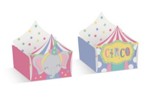 Forminha para Doce Reta Circo e Elefante Festa Circo Rosa - 24 unidades - Cromus - Rizzo