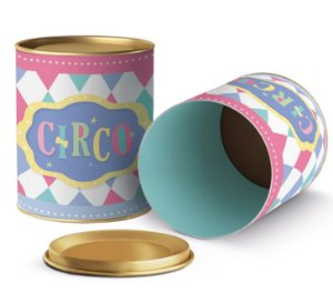 Lata para Lembrancinhas Festa Circo Rosa - 11x9cm - 01 unidade - Cromus - Rizzo